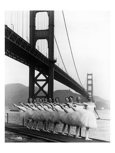 San Francisco Ballet Company and the Golden Gate, c.1960