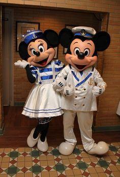 Sailor Mickey & Sailorette Minnie Mouse