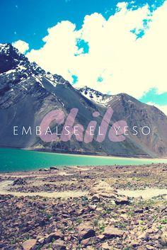 Embalse el Yeso, no Cajón del Maipo é paraíso perto de Santiago no Chile!