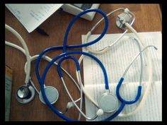 Stethoscope:- a medical instrument for listening to the action of someone's heart or breathing.
