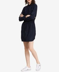 Calvin Klein Jeans Denim Shirtdress - Blue XS