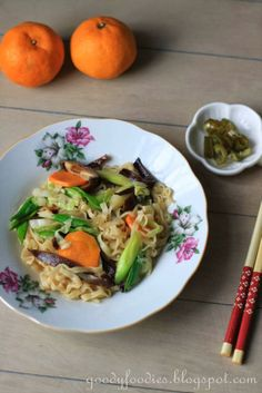 "Eat Your Heart Out: Recipe: Vegetarian ""Hakka Mee"" Noodles"