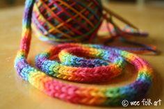 4 stitch i-cord - tree garland?