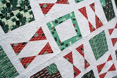 Now that you've seen my Bow Tie Required quilt (made with the Business and Leisure fabric line by Allison Beilke for Modern Yardage), I thought I would share a tutorial for making the Wonky B…