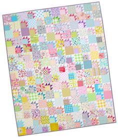 Scrappy Bear Paw Quilt | Red Pepper Quilts 2015