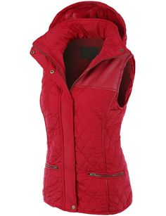 Women's Faux Fur Quilted Puffer Jacket Vest
