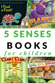 Picture books to teach students about the five senses including touch, taste, sight, sound, and smell. #booklist #5senses #prek #preschool #GrowingBookbyBook