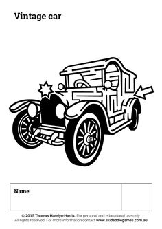 www.skidaddlegames.com.au Printable Mazes, Vintage Cars, Darth Vader, Activities, Fictional Characters, Fantasy Characters, Classic Cars, Retro Cars