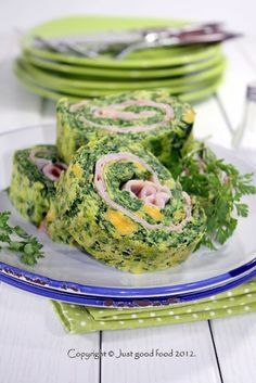 Roll with Spinach & Ham