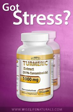 Got stress? WiseLife Premium Turmeric Curcumin Longa Root Powder Extract Pills for Anti inflammatory and Stress Reliever Inflammation Diet with No Side Effects 120 Capsules 95% Curcuminoids. Learn more here - http://www.amazon.com/WiseLife-Turmeric-inflammatory-Inflammation-Curcuminoids/dp/B00ISX0NPI/ref=sr_1_248?s=hpc&ie=UTF8&qid=1408498684&sr=1-248&keywords=turmeric+curcumin