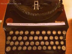 My #typewriter from 1924 and a famous #literary quote by #Hemingway  #antique #vintage