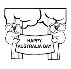 we really are the lucky country colour in this australia day stencil to show