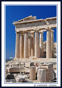 The Parthenon - Athens - here Paul preached his sermon on the 'unknown God' (Acts Travel Around The World, Around The Worlds, Parthenon Athens, Scripture Of The Day, I Want To Travel, Athens Greece, Bible Lessons, Sunday School, Where To Go