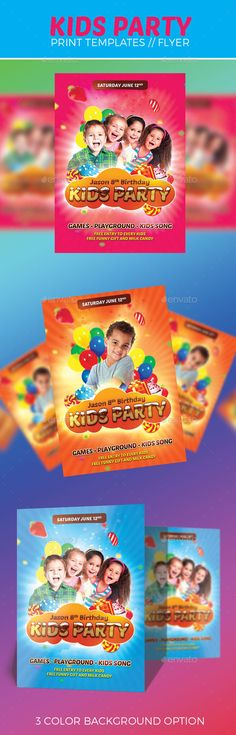Kids Party Flyer Template Party flyer, Flyer template and Psd - daycare flyer template