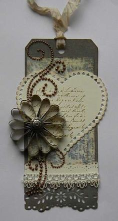 Vintage Tag...would be lovely on a card