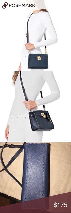 • Michael Kors Navy Hamilton small crossbody • Navy small Hamilton Crossbody purse, excellent condition! No flaws. Michael Kors Bags Crossbody Bags