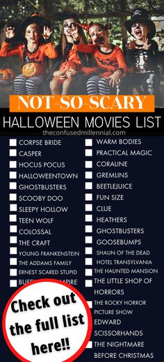 Halloween Movies [100+ from Scary to Not-So-Scary!] - The Confused Millennial