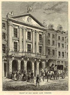 Drury Lane theatre, print published around 1883