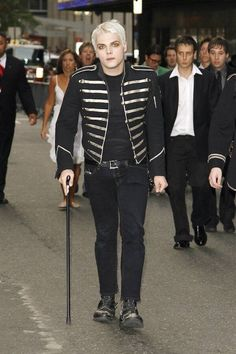 Gerard after the filming of the Famous Last Words music video where Frank tackles him and hurts his ankle ❤️