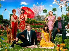"""Pushing Daisies Ned the Pie-Maker (Lee Pace) Charlotte """"Chuck"""" Charles (Anna Friel), Emerson Cod (Chi McBride), Olive Snook (Kristen Chenoweth), Lily and Vivian Charles (Swoosie Kurtz, Ellen Green) Anna Friel, Lee Pace, Movies Showing, Movies And Tv Shows, Paranormal, Science Fiction, Daisy Wallpaper, Bryan Fuller, Rookie Blue"""