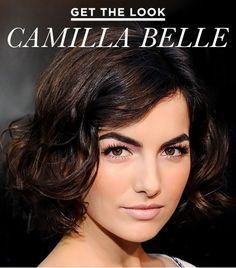 GET THE LOOK: CAMILLA BELLE The actress goes retro with a full brow, pale pink lips, and thick lashes.