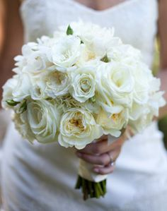 Ivory Bridal Bouquet - @Anna Totten Woods i saw this and thought of you!