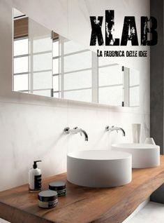 Mensola piano lavabo legno massello originale Xlab