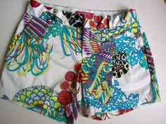 Banana Republic Trina Turk Collection Summer 2012 Print Shorts Size OOP Stretch #TrinaTurk #CasualShorts