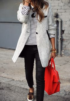 stripes + leopard