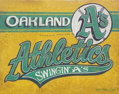 Oakland Athletics Baseball Print