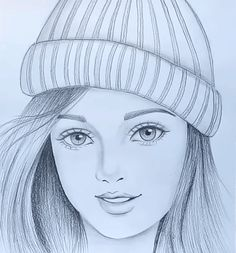 Disney Drawings Sketches, Art Drawings Sketches Simple, Girl Drawing Sketches, Cartoon Girl Drawing, Girl Sketch, Cool Drawings, Amazing Pencil Drawings, Pencil Drawing Images, Pencil Drawings For Beginners