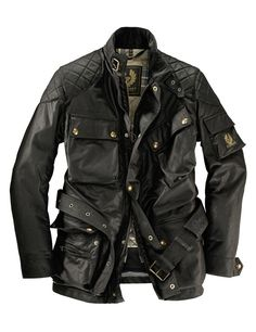 Men's Jackets For Every Occasion. Photo by Menswear Market Jackets are a must-have in the cold weather but it can also be used to accessorize an outfit. Motorcycle Outfit, Motorcycle Jacket, Belstaff Jackets, Leather Men, Leather Jacket, Waxed Cotton Jacket, Biker Style, Mode Outfits, Mode Style