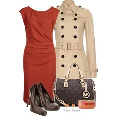 A fashion look from January 2013 featuring Essentiel dresses, Burberry coats and Gianvito Rossi pumps. Browse and shop related looks.