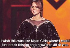 Jennifer Lawrence references Mean Girls while accepting her People's Choice Award...this is why I love her.