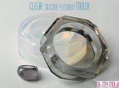 Clear Rubber mold For Faceted Bangle and Ring by OHMYMOLD