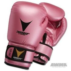 Proforce Thunder Boxing Gloves - Pink Metallic. Pink Metallic Satin Finished. Feature a pre-curved form fit. flex grip palm.