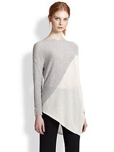 Alice + Olivia - Asymmetrical Colorblock Pullover Sweater