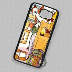 Calvin and Hobbes with Duplicator Machine Cartoon - Samsung Galaxy S6 S5 S4 Note 5 Cases & Covers