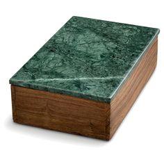 Träbox med lock M, grön marmor/trä i gruppen Inredningsdetaljer / Småförvaring / Boxar & Askar hos RUM21.se (132725)