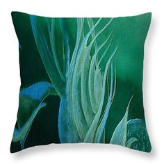 Teal Melody Throw Pillow for Sale by Faye Anastasopoulou - Modern