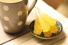 Saffron flavored sugar sticks