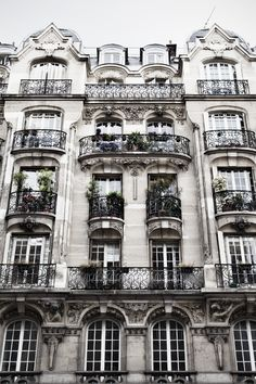 Apartment building in Paris.
