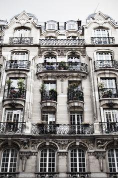 Apartment building in Paris.
