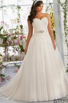 55+ Plus Size Wedding Dress Designers - Plus Size Dresses for Wedding Guest Check more at http://svesty.com/plus-size-wedding-dress-designers/