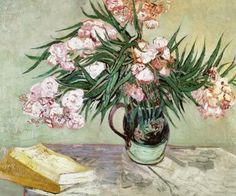Vincent van Gogh, Oleanders and books // 1888 on ArtStack #vincent-van-gogh #art