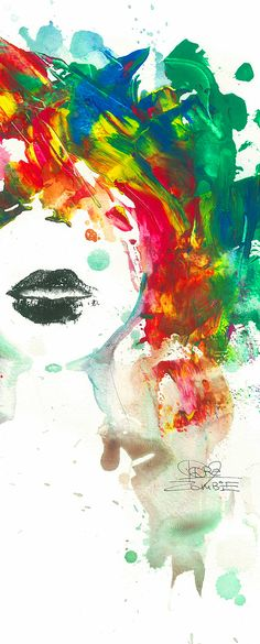 Detail of 'Black Lips' by Lora Zombie - Fine Art Prints available at Eyes On Walls http://www.eyesonwalls.com/collections/fine-art-prints