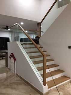 Staircase railing with oak handle. Staircase railing with oak handle. Staircase railing with oak handle. Staircase railing with oak handle.