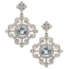 Leslie Greene Diamond and Blue Topaz earrings
