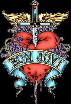 BON JOVI (his mom lived right near me growing up and he was always around great family) emmy Join our List Rock Band Posters, Rock Band Logos, Heavy Metal, Black Metal, Best Rock Bands, Cool Bands, 80s Rock, Punk Rock, Hard Rock