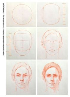 Draw the woman's face